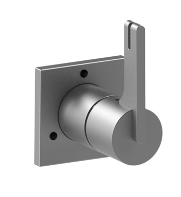 Rubinet 3XRTLSNSN R10 Three Way Diverter with Shut-Off in between functions With Finish: Main Finish: Satin Nickel | Accent Finish: Satin Nickel