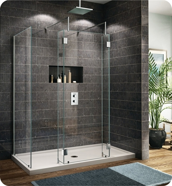 Fleurco V6303 Evolution 6' Walk in Shower Enclosure with 2 Side Glass Panels V6303