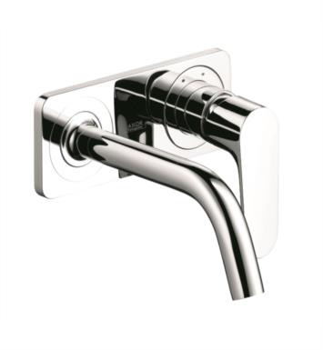 "Hansgrohe 34115001 Axor Citterio M 9 3/8"" Single Handle Wall Mount Bathroom Faucet with Base Plate With Finish: Chrome"