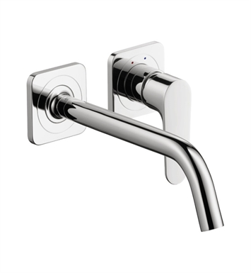 Hansgrohe 34116821 Axor Citterio M Wall Mounted Single Hole Faucet Trim With Finish: Brushed Nickel