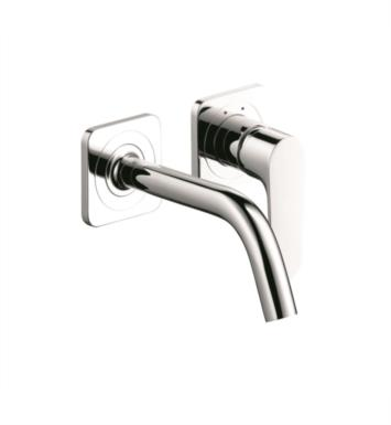 "Hansgrohe 34116821 Axor Citterio M 9 3/8"" Single Handle Widespread/Wall Mount Bathroom Faucet With Finish: Brushed Nickel"
