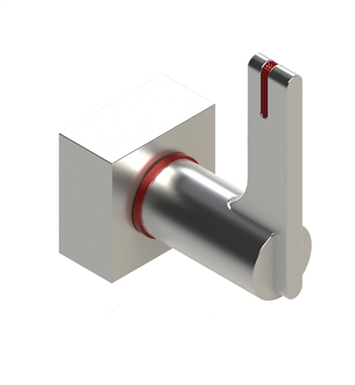 Rubinet T4KRTLSNRD R10 Volume Control Valve With Finish: Main Finish: Satin Nickel | Accent Finish: Red
