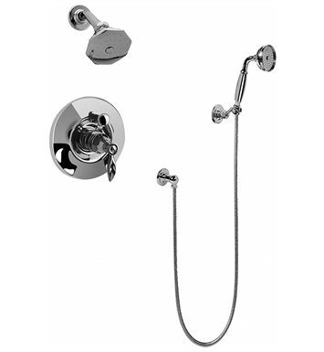 Graff G-7162-LM14 Topaz Pressure Balancing Tub and Shower Set