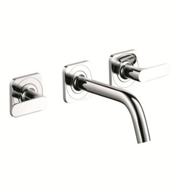 "Hansgrohe 34315821 Axor Citterio M 9 1/4"" Double Handle Widespread/Wall Mount Bathroom Faucet With Finish: Brushed Nickel"
