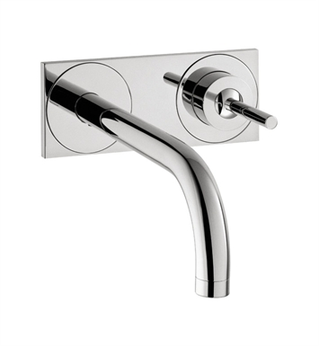 Hansgrohe 38117821 Axor Uno Wall Mounted Single Handle Faucet Trim with Base Plate With Finish: Brushed Nickel