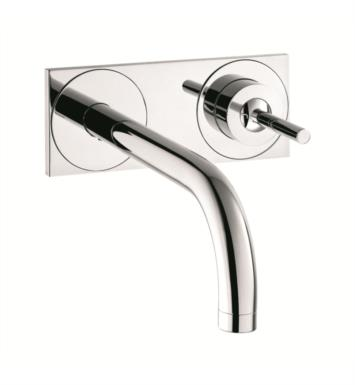 "Hansgrohe 38117001 Axor Uno 9 1/4"" Single Handle Wall Mount Bathroom Faucet with Base Plate With Finish: Chrome"