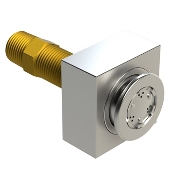 "Rubinet 4J010MWGD R10 Body Spray with 1/2"" NPT x 1/2"" NPSM x 3"" Nipple With Finish: Main Finish: Matt White 