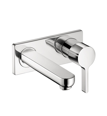 Hansgrohe 31163821 Metris S Wall Mounted Single Handle Faucet Trim With Finish: Brushed Nickel