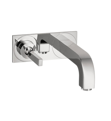 Hansgrohe 39115821 Axor Citterio Wall Mounted Single Handle Faucet Trim with Base Plate With Finish: Brushed Nickel
