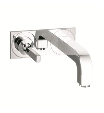 "Hansgrohe 39115 Axor Citterio 9 1/4"" Single Handle Wall Mount Bathroom Faucet with Pop-Up Assembly"