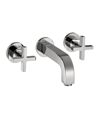 Hansgrohe 39143821 Axor Citterio Wall Mounted Widespread Faucet with Cross Handles With Finish: Brushed Nickel
