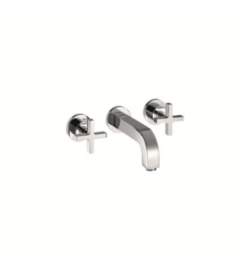 "Hansgrohe 39143001 Axor Citterio 9 1/2"" Double Handle Widespread/Wall Mount Bathroom Faucet With Finish: Chrome"
