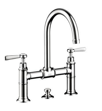 Hansgrohe 16511001 Axor Montreux Widespread Faucet with Lever Handles, Bridge Model With Finish: Chrome