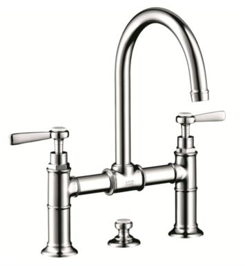"Hansgrohe 16511001 Axor Montreux 6 7/8"" Double Lever Handle Deck Mounted Bathroom Faucet with Pop-Up Assembly With Finish: Chrome"