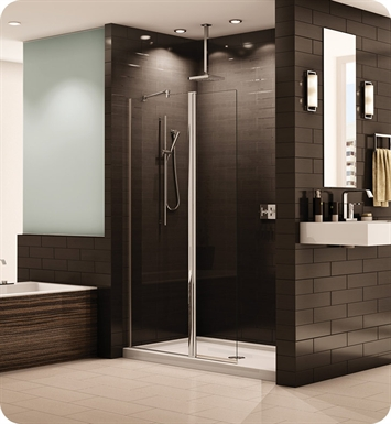 Fleurco ESS24 Banyo Siena Semi Frameless In Line Pivot Shower Shield
