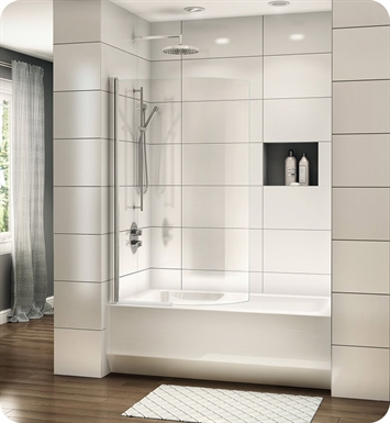 Fleurco ESBC34 Banyo Siena Solo Semi Frameless Curved Tub Shield