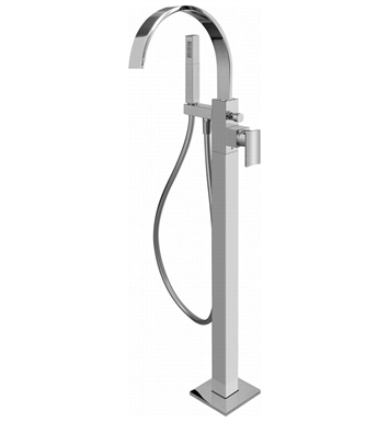 Graff G-1854-LM36N-PC Sade Floor Mounted Tub Filler with Handshower With Finish: Polished Chrome