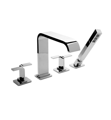 Graff G-2352-C9-PC Immersion Roman Tub Faucet Set with C9 Handle With Finish: Polished Chrome