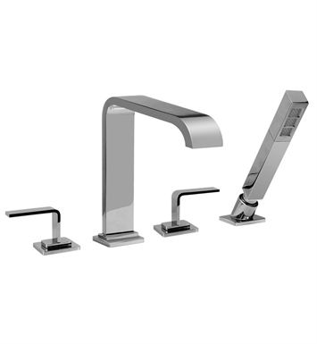 Graff G-2356-LM40-PC Immersion Roman Tub Faucet Set with LM40 Handle With Finish: Polished Chrome