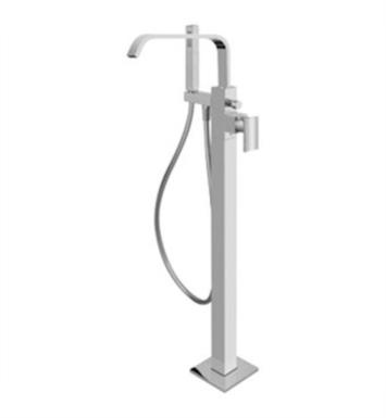 "Graff G-2357-LM31N-PC Immersion 36 5/8"" Floor Mounted Exposed Tub Filler with Handshower and Diverter With Finish: Polished Chrome And Rough / Valve: Rough"