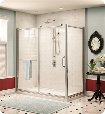 Fleurco FRM2 Forte Roma In Line Shower Door and Panel with Return Panel