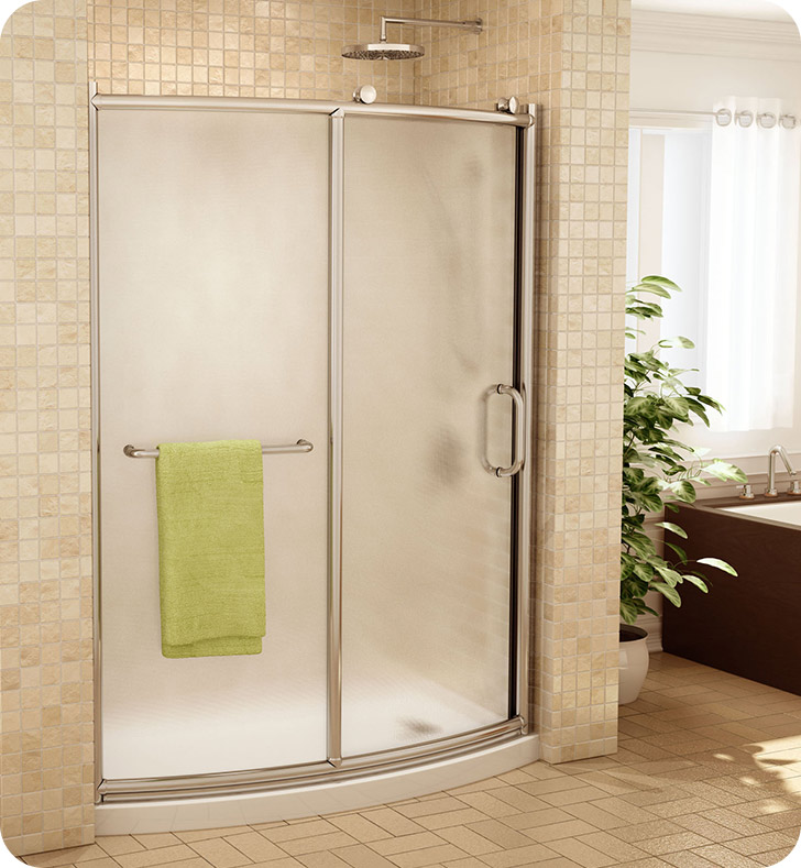 Fleurco Frmbf60 Forte Roma Bowfront Curved Shower Door And