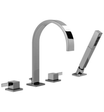 "Graff G-6252-LM39B Qubic Tre 8 1/2"" Double Handle Widespread/Deck Mounted Roman Tub Faucet with Hand Shower"
