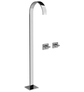 Graff G-1852-C14U Sade Floor Mounted Tub Filler with Wall Mounted Handles