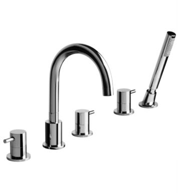 "Graff G-6151-LM37B-PC M.E. 7 5/8"" Double Handle Widespread/Deck Mounted Roman Tub Faucet with Hand Shower With Finish: Polished Chrome"
