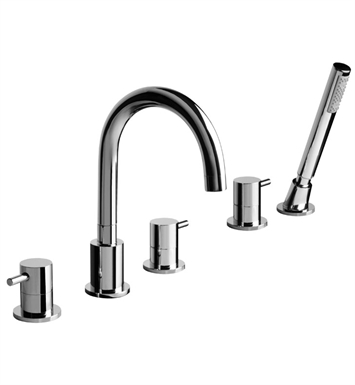 Graff G-6151-LM37B-SN M.E. Roman Tub Faucet Set With Finish: Steelnox (Satin Nickel)