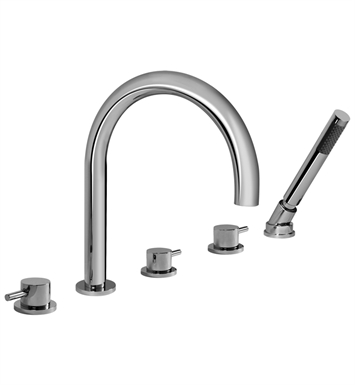 Graff G-6153-LM41B-SN M.E. 25 Roman Tub Faucet Set With Finish: Steelnox (Satin Nickel)