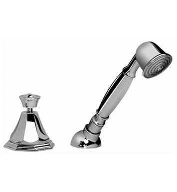 Graff G-1955-PN Topaz Deck Mounted Handshower and Diverter Set With Finish: Polished Nickel
