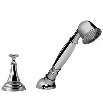 Graff G-2455-PC Lauren Deck Mounted Handshower and Diverter Set With Finish: Polished Chrome