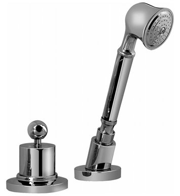 Graff G-2155-PN Bali Deck Mounted Handshower and Diverter Set With Finish: Polished Nickel