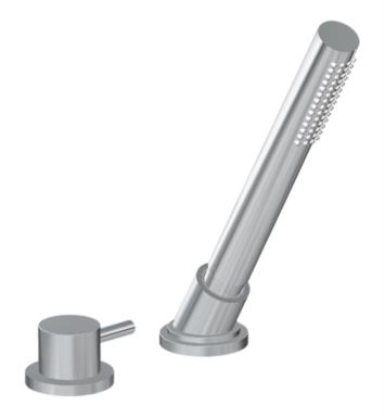 "Graff G-6156-LM41B-PN M.E. 25 8 1/2"" Contemporary Deck Mounted Handshower and Diverter Set With Finish: Polished Nickel And Rough / Valve: Rough"