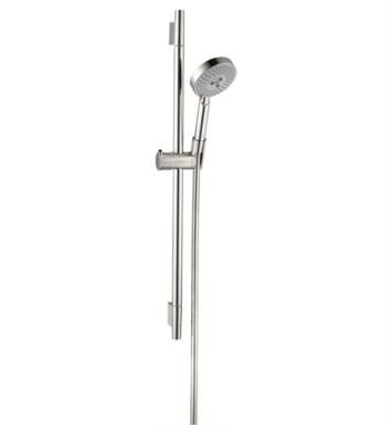 "Hansgrohe 04266 Raindance Unica S 28 1/4"" Wallbar Set Handshower with QuickClean and AirPower Technologies"