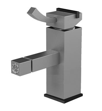Rubinet 6FMQ1CHCH Matthew Quinn Single Hole Single Control Bidet Fittings with Pop-Up Assembly With Finish: Main Finish: Chrome | Accent Finish: Chrome