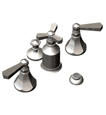 Rubinet 6DHXLPNPN Hexis Pressure Balance Bidet Fittings with Spray, Diverter with Built-In Vacuum Breaker & Pop-Up Assembly With Finish: Main Finish: Polished Nickel | Accent Finish: Polished Nickel