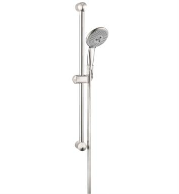 "Hansgrohe 04265820 Raindance Unica E 26 3/8"" Wallbar Set Handshower with QuickClean and AirPower Technologies With Finish: Brushed Nickel"