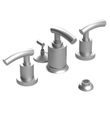 Rubinet 6DHOLSBSB H2O Pressure Balance Bidet Fittings with Spray, Diverter with Built-In Vacuum Breaker & Pop-Up Assembly With Finish: Main Finish: Satin Brass | Accent Finish: Satin Brass