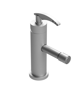Rubinet 6FLALSCSC LaSalle Single Hole Single Control Bidet Fittings with Push-Up Drain Assembly With Finish: Main Finish: Satin Chrome | Accent Finish: Satin Chrome