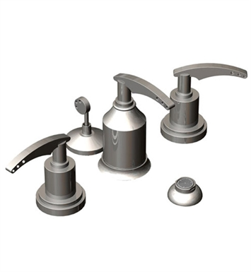 Rubinet 6CLALSNSN LaSalle Bidet Fittings with Spray, Diverter with Built-In Vacuum Breaker & Pop-Up Assembly With Finish: Main Finish: Satin Nickel | Accent Finish: Satin Nickel