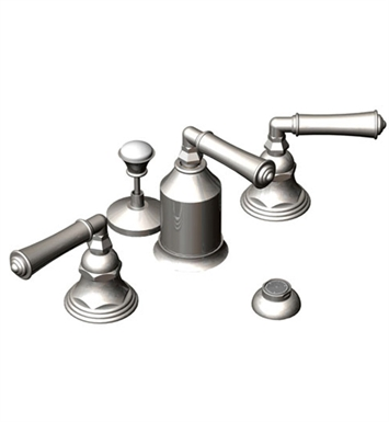Rubinet 6CRVLPNMB Raven Bidet Fittings with Spray, Diverter with Built-In Vacuum Breaker & Pop-Up Assembly With Finish: Main Finish: Polished Nickel | Accent Finish: Matt Black