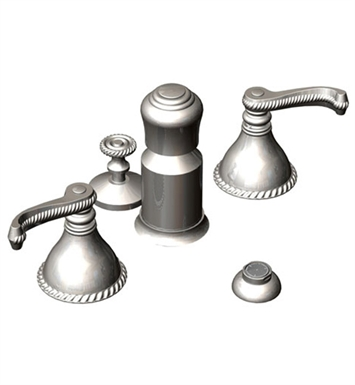 Rubinet 6CETLSNGD Etruscan Bidet Fittings with Spray, Diverter with Built-In Vacuum Breaker & Pop-Up Assembly With Finish: Main Finish: Satin Nickel | Accent Finish: Gold