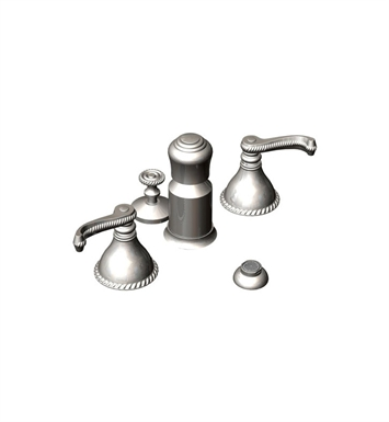 Rubinet 6DETLSNGD Etruscan Pressure Balance Bidet Fittings with Spray, Diverter with Built-In Vacuum Breaker & Pop-Up Assembly With Finish: Main Finish: Satin Nickel | Accent Finish: Gold