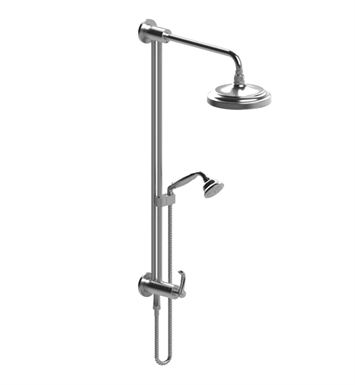 Rubinet 4UET2SNSN Etruscan Bar with Inlet at Shower Head, Shower Arm, Adjustable Slide Bar and Hand Held Shower with Diverter With Finish: Main Finish: Satin Nickel | Accent Finish: Satin Nickel