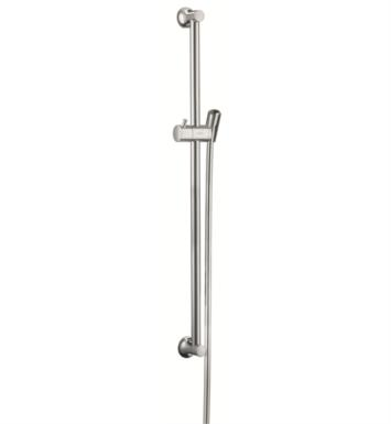 "Hansgrohe 27617830 Croma 100 Unica C 26 3/4"" Angle Adjustable Wallbar Handshower with Techniflex Hose With Finish: Polished Nickel"