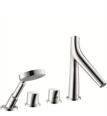 "Hansgrohe 12425001 Axor Starck Organic 8 1/4"" Four Hole Widespread/Deck Mounted Roman Tub Set Trim with Handshower"