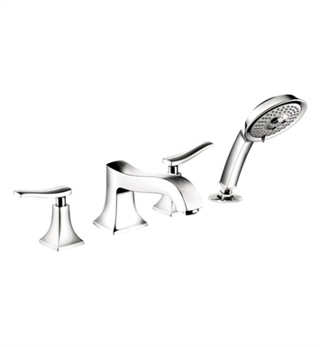 Hansgrohe 31314831 Metris C 4 Hole Roman Tub Set Trim With Finish: Polished Nickel