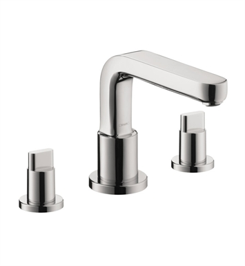 Hansgrohe 31436821 Metris S 3 Hole Roman Tub Set Trim with Full Handles With Finish: Brushed Nickel